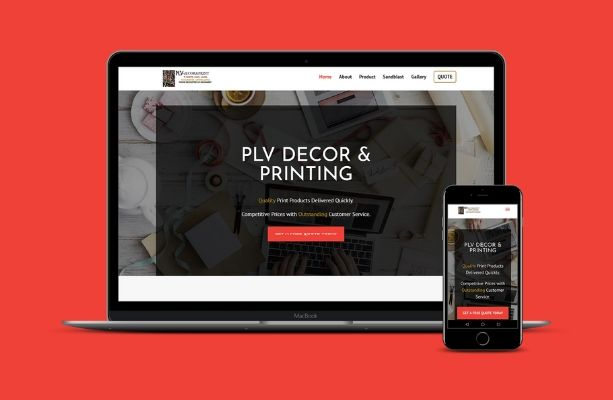 PLV Print and Decor Web Design